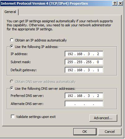 הגדרת IP סטטי