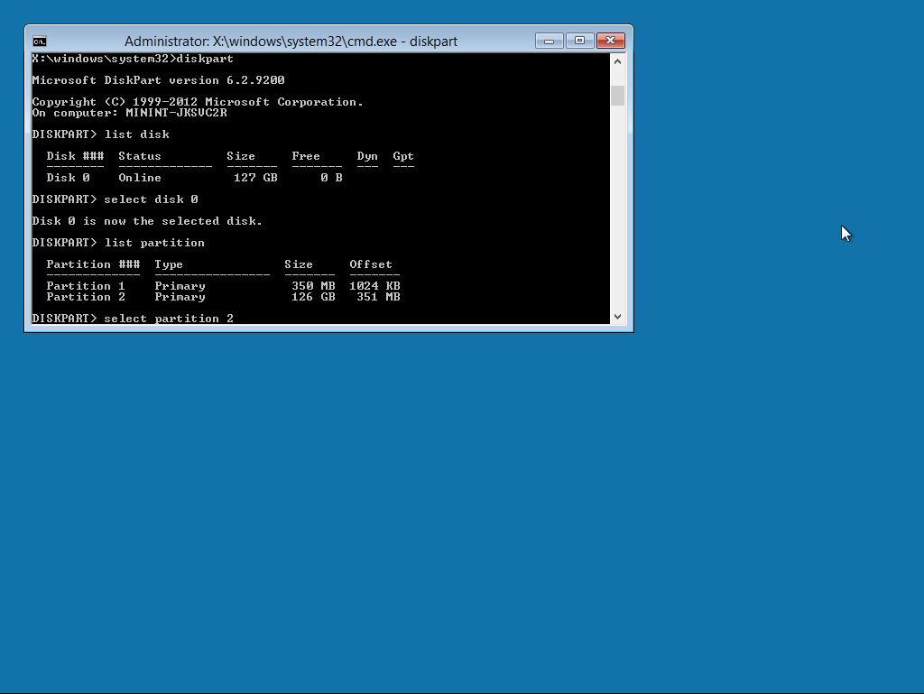 2 מחיצות יש אחת היא System וה2 של מערכת ההפעלה